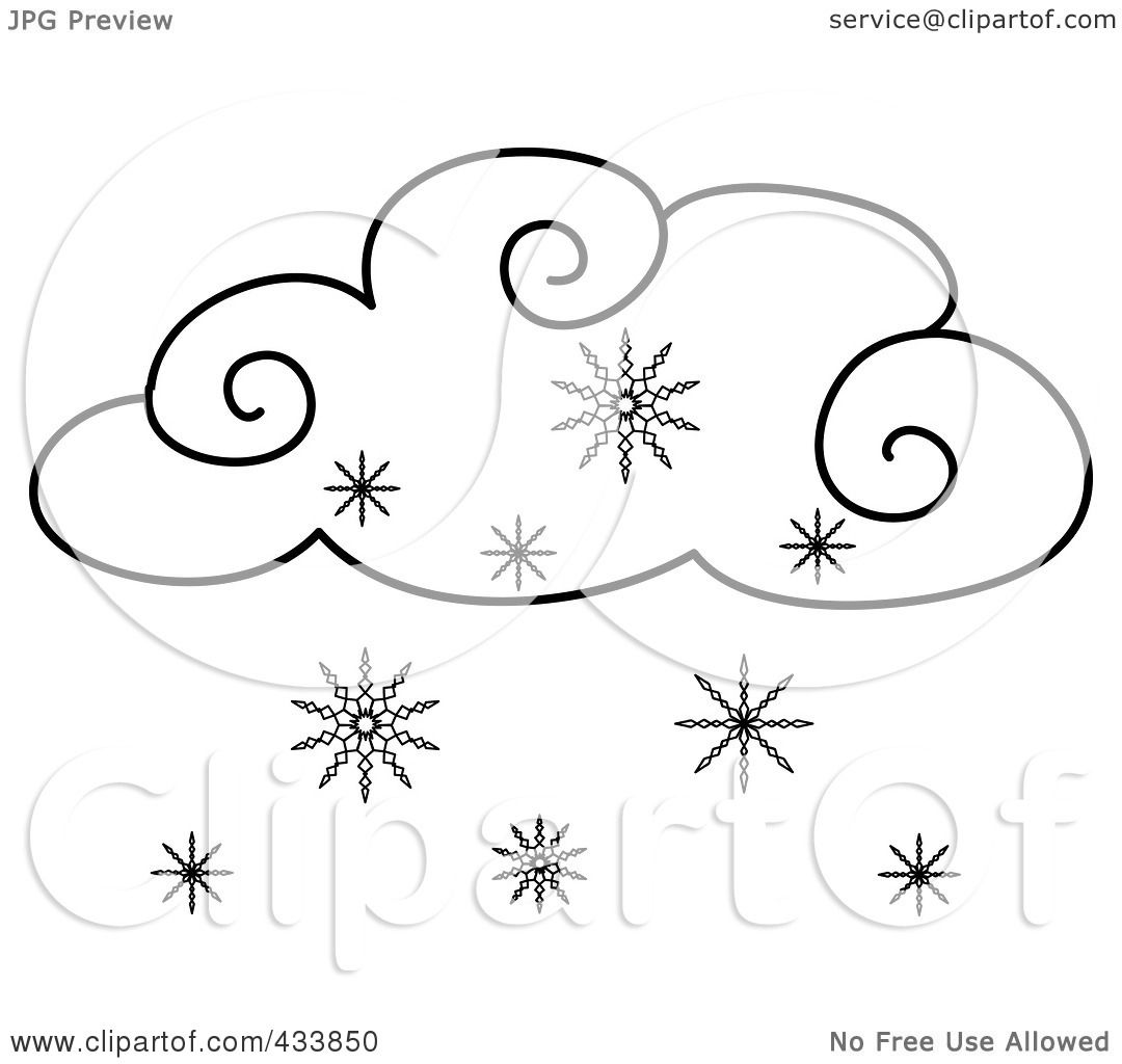 Coloring Pages Snow Cloud