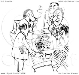 working crossword puzzle outline clipart royalty alex illustration bannykh rf law