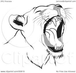 lion female clipart roaring head illustration royalty clip rf dero graphic working