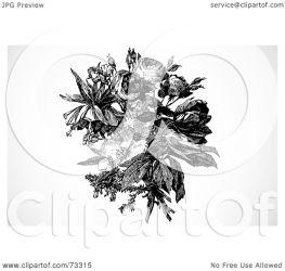 rose bouquet mixed flower clipart illustration royalty bestvector rf raster