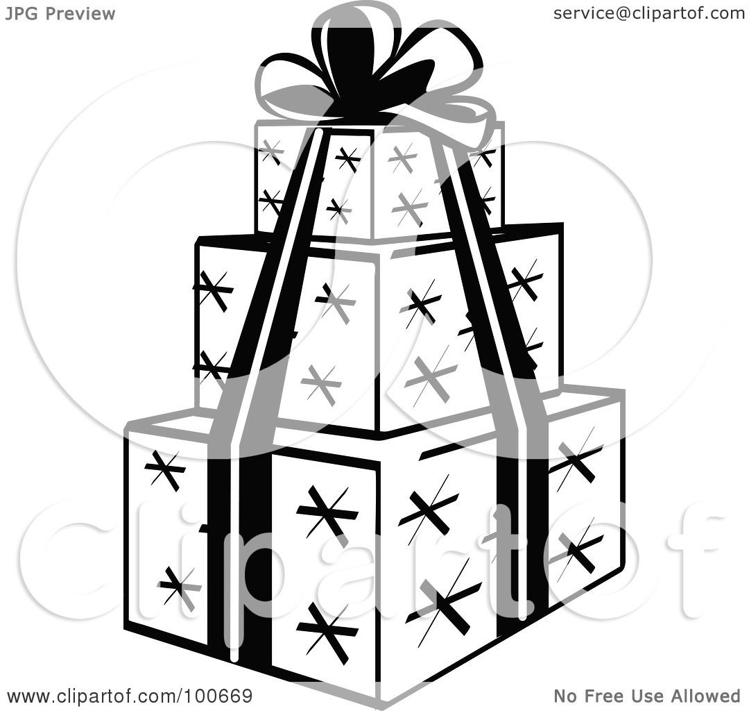 Royalty Free Rf Clipart Illustration Of A Black And