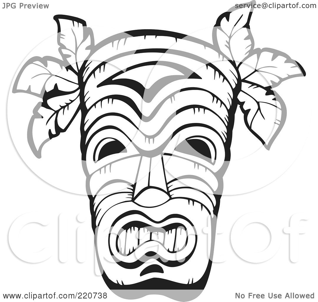 History African Mask Colouring