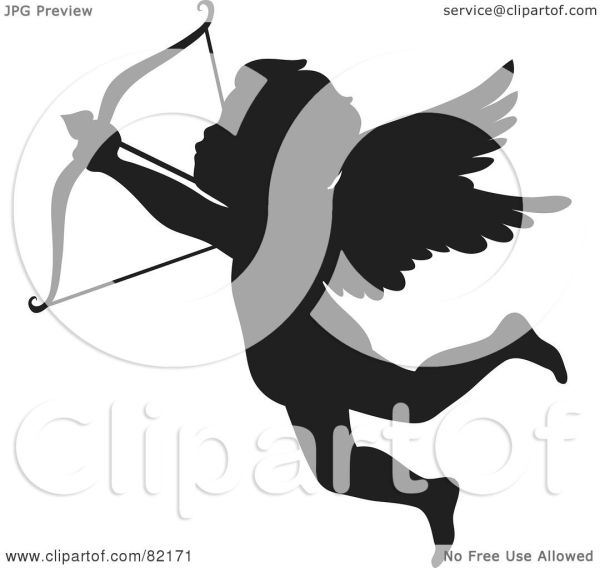 Royalty-free Rf Clipart Illustration Of Black Cupid