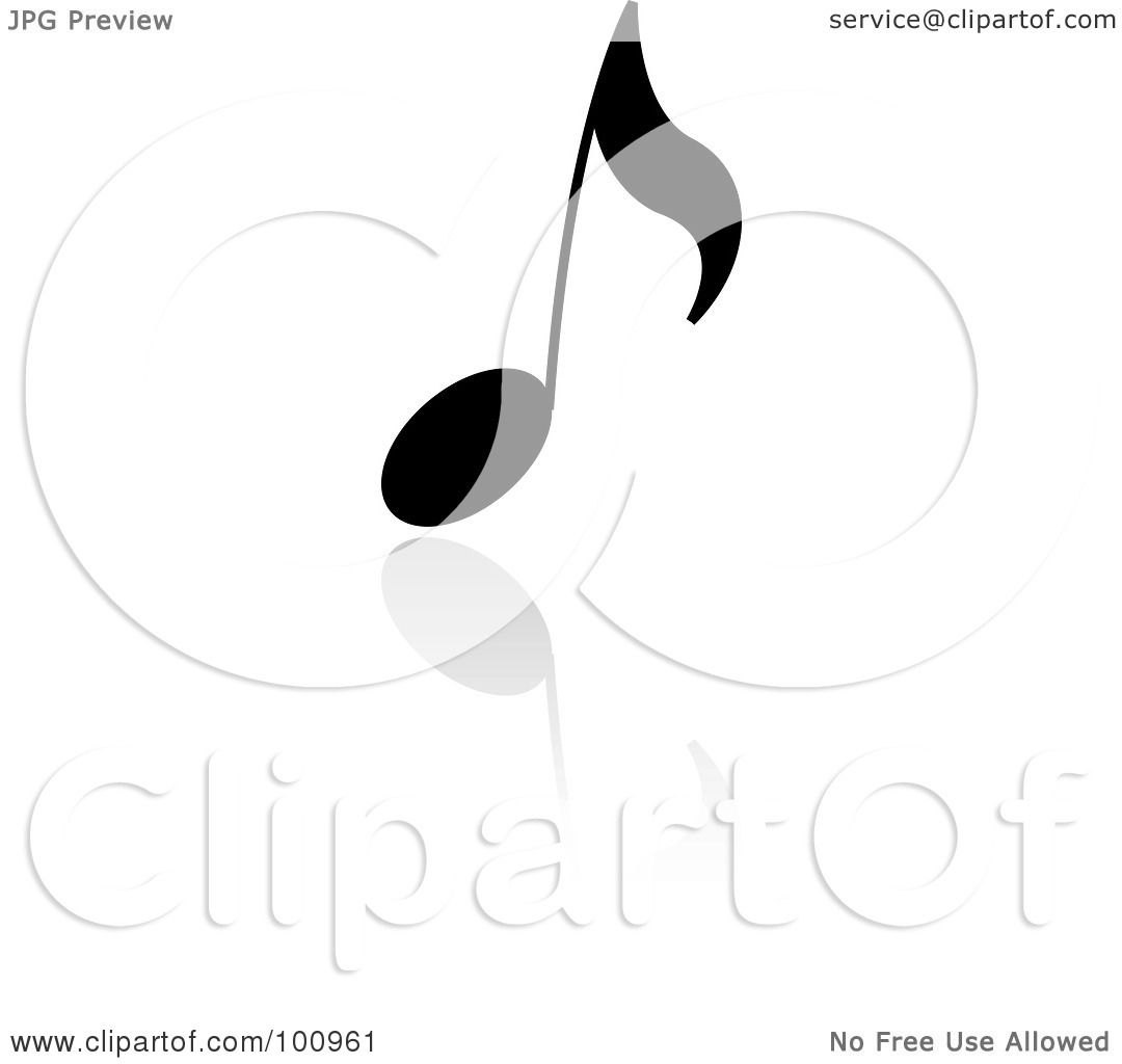 Royalty Free Rf Clipart Illustration Of A Black Music