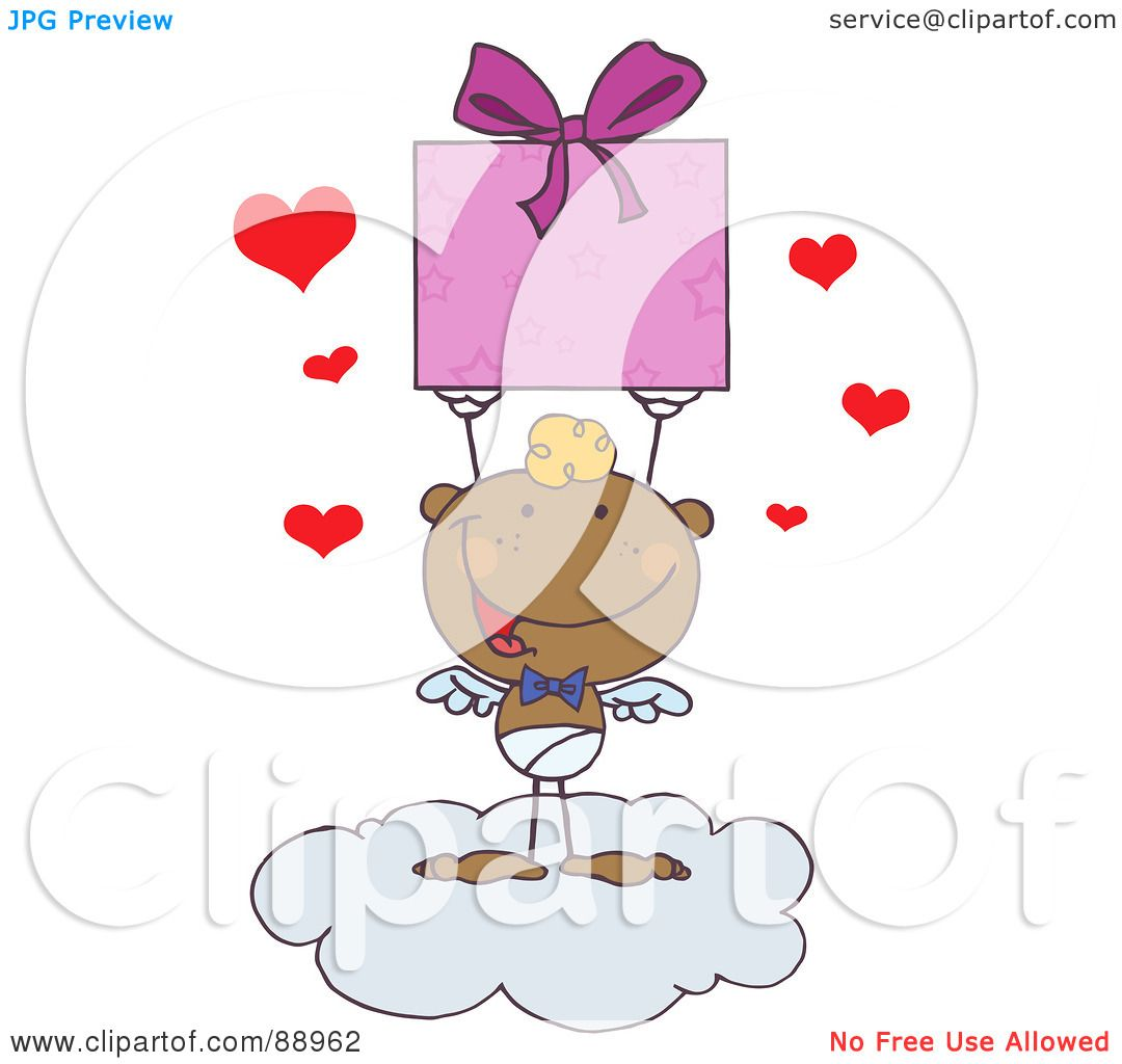 hight resolution of royalty free rf clipart illustration of a black stick cupid on a cloud
