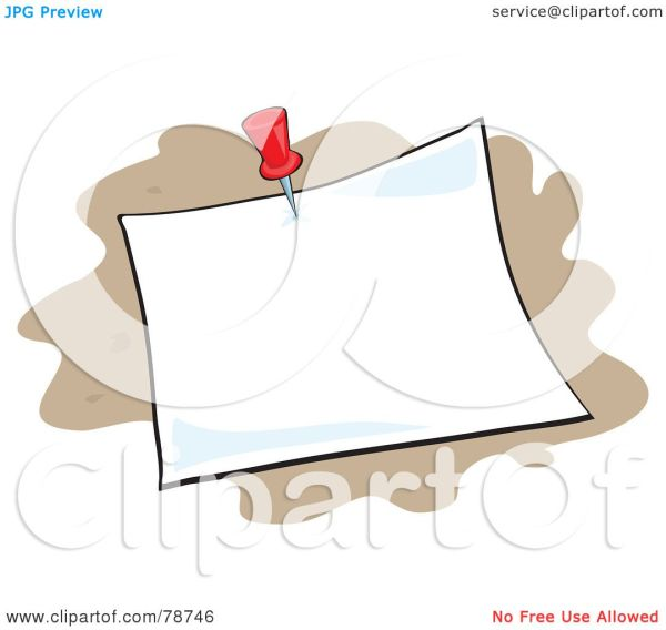 Royalty-free Rf Clipart Illustration Of Blank Pinned