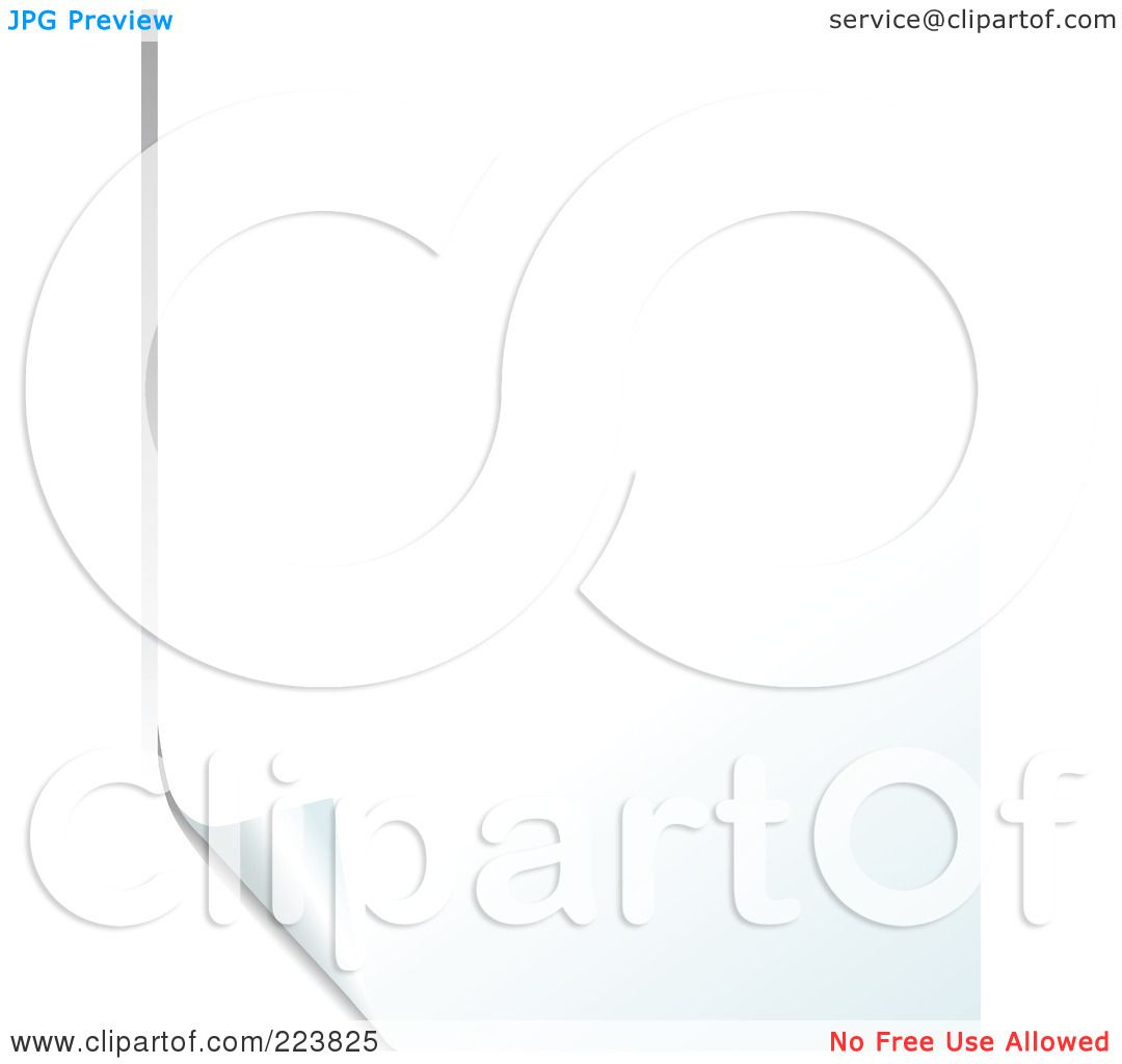 Royalty-Free (RF) Clipart Illustration of a Blank White