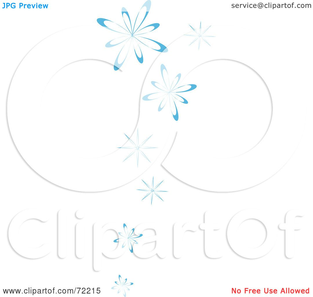 Royalty Free Rf Clipart Illustration Of A Border Of Blue