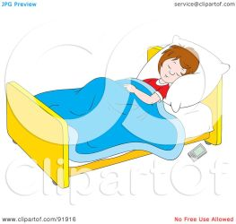 clipart sleeping boy bed floor child remote control royalty illustration clip bannykh alex rf graphic clipartmag bedtime
