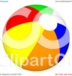 royalty free rf clipart illustration of a bright colorful beach ball version [ 1080 x 1024 Pixel ]