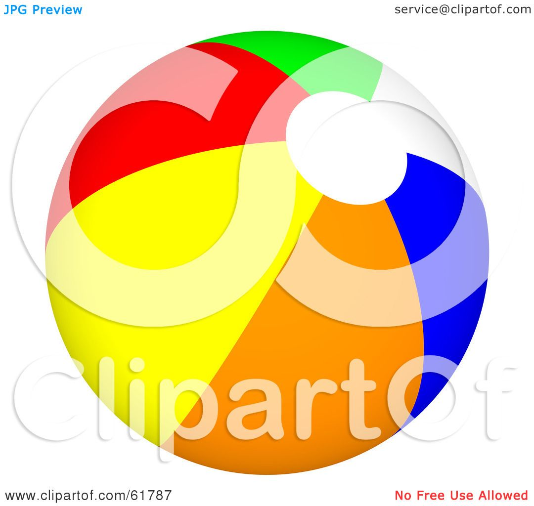 hight resolution of royalty free rf clipart illustration of a bright colorful beach ball version