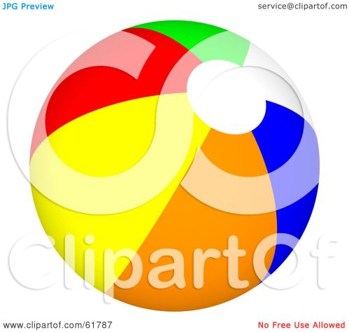 small resolution of royalty free rf clipart illustration of a bright colorful beach ball version