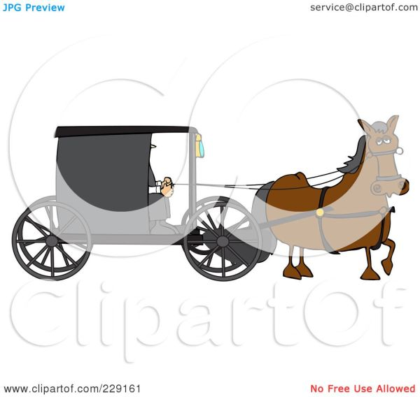 Royalty-free Rf Clipart Illustration Of Brown Horse