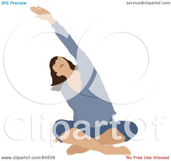 Royalty-free Rf Clipart Illustration Of Brunette