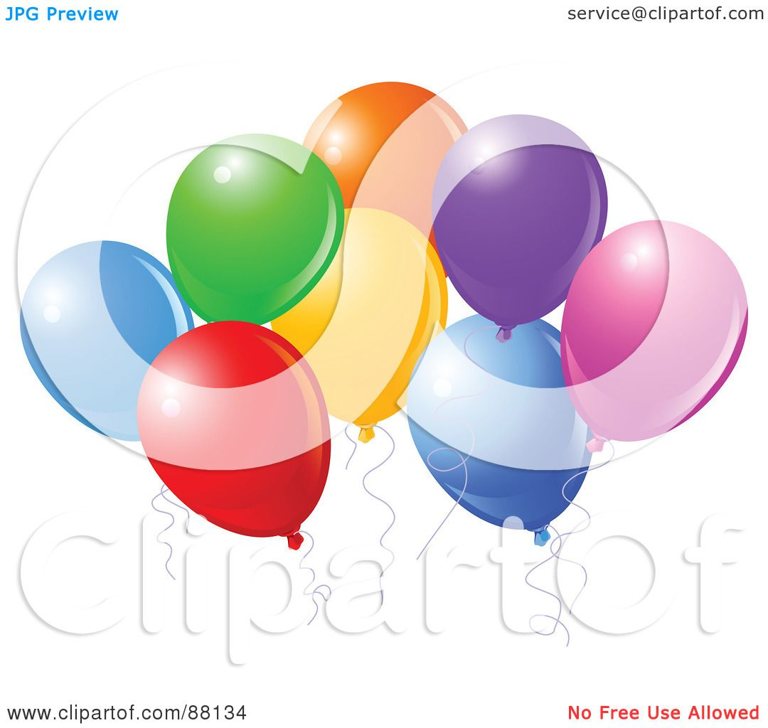 hight resolution of royalty free rf clipart illustration of a bunch of colorful party balloons with
