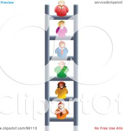 royalty free rf clipart illustration of a business people on different levels of a corporate ladder by prawny [ 1080 x 1024 Pixel ]