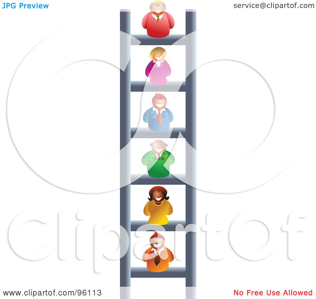 hight resolution of royalty free rf clipart illustration of a business people on different levels of a corporate ladder by prawny