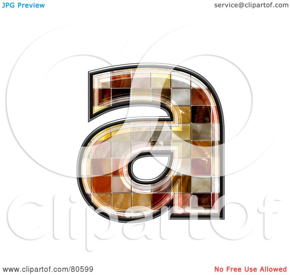 medium resolution of royalty free rf clipart illustration of a ceramic tile symbol lowercase letter a by chrisroll