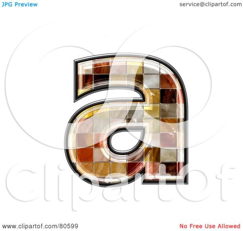 small resolution of royalty free rf clipart illustration of a ceramic tile symbol lowercase letter a by chrisroll