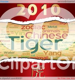 royalty free rf clipart illustration of a chinese tiger year word collage with [ 1080 x 1024 Pixel ]