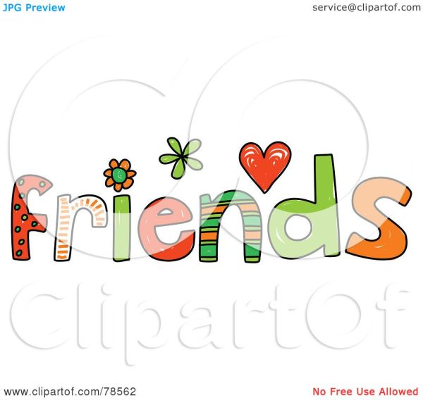 Word Friends Clip Art