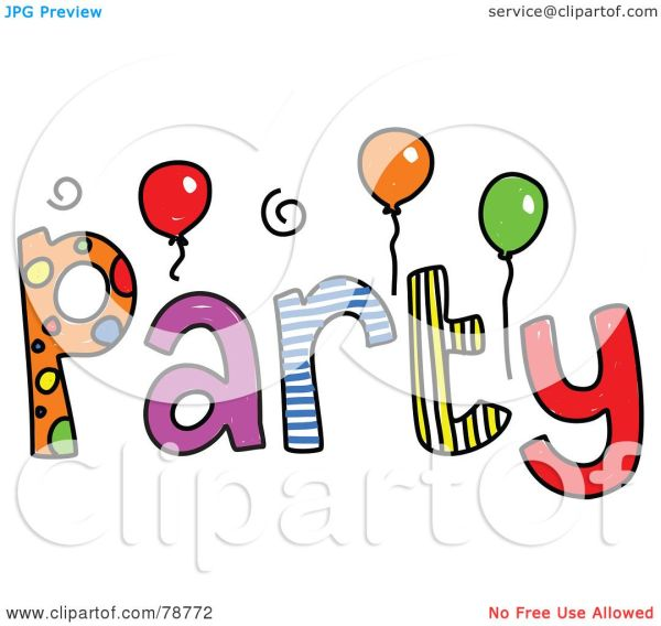 Royalty-free Rf Clipart Illustration Of Colorful Party