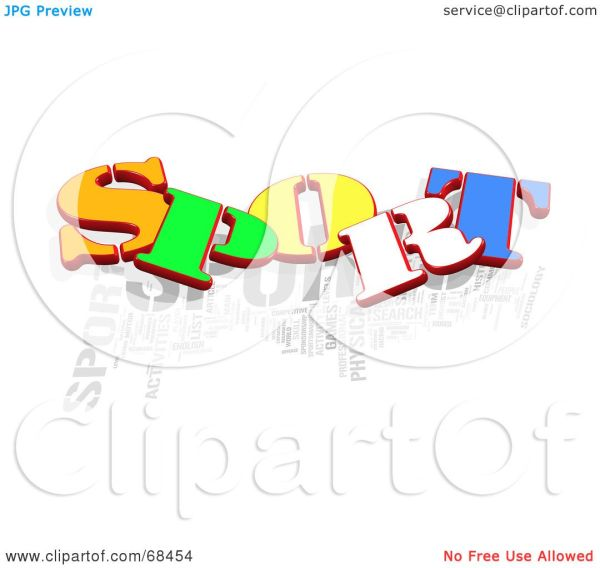 Royalty-free Rf Clipart Illustration Of Colorful Sport