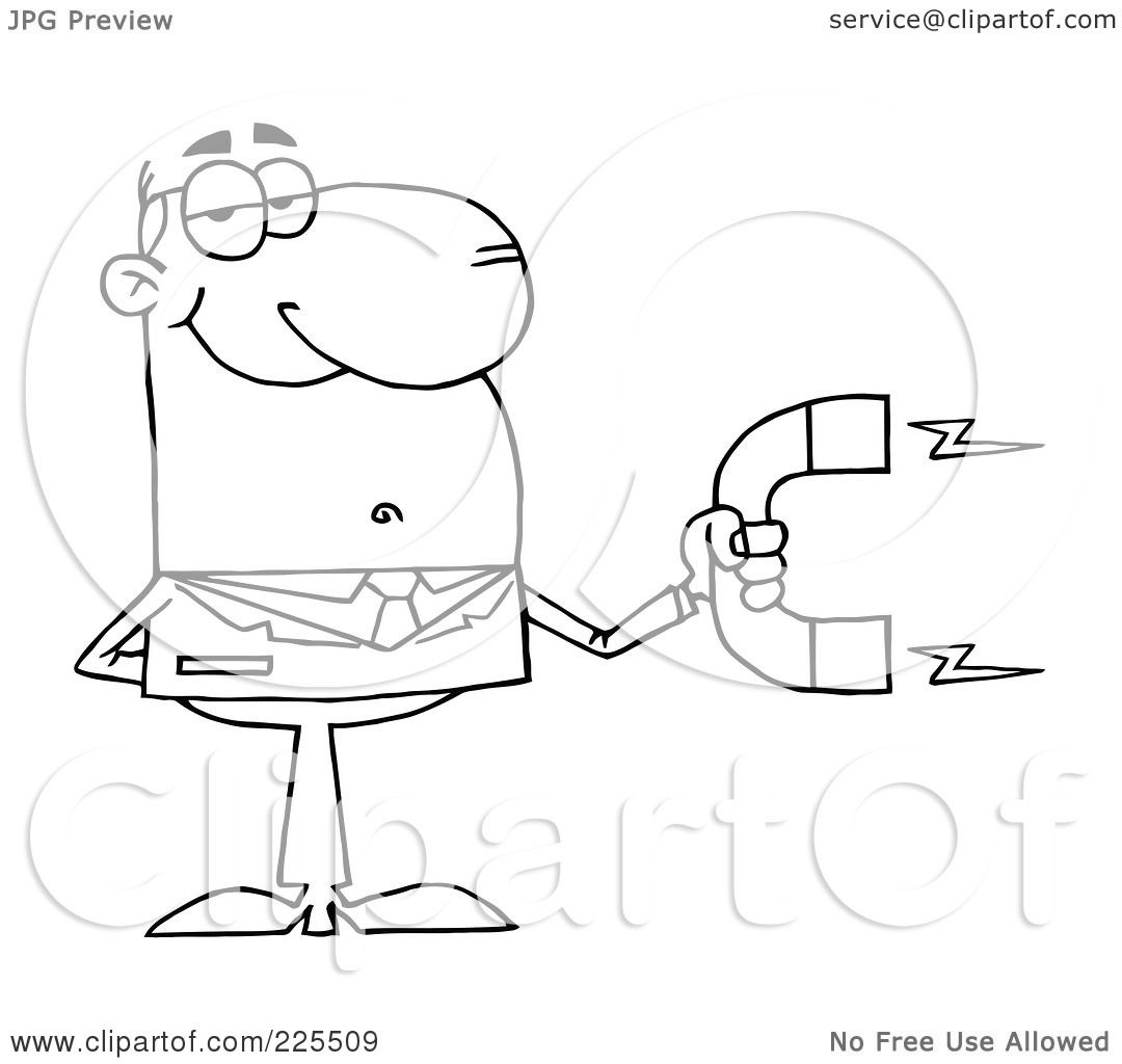 Royalty Free Rf Clipart Illustration Of A Coloring Page Outline Of A Businessman Holding A