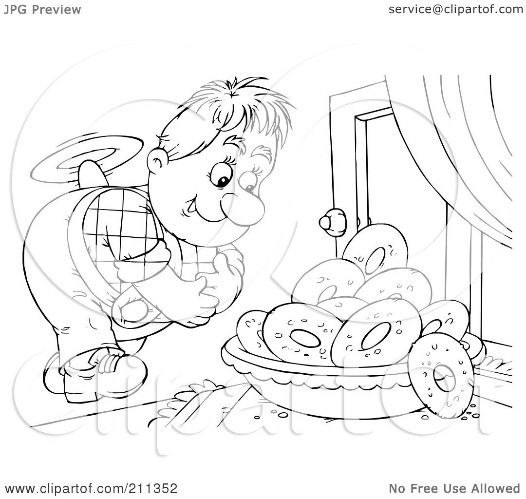 Royalty-Free (RF) Clipart Illustration of a Coloring Page