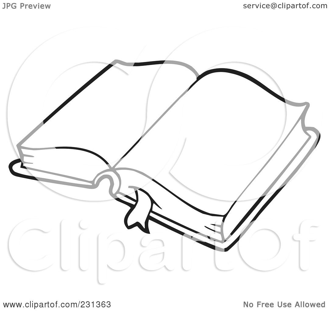 Royalty Free Rf Clipart Illustration Of A Coloring Page Outline Of A School Book