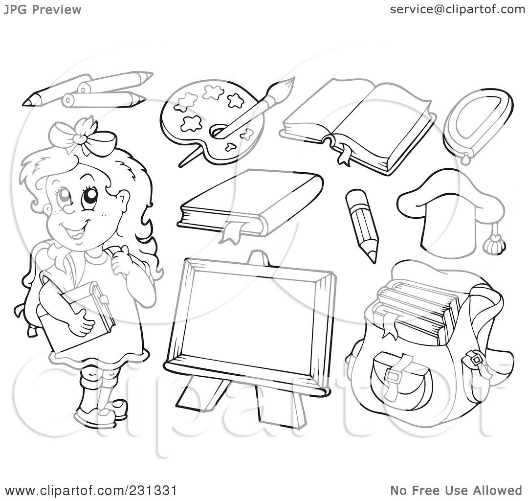 Royalty-Free (RF) Clipart Illustration of a Digital Colage