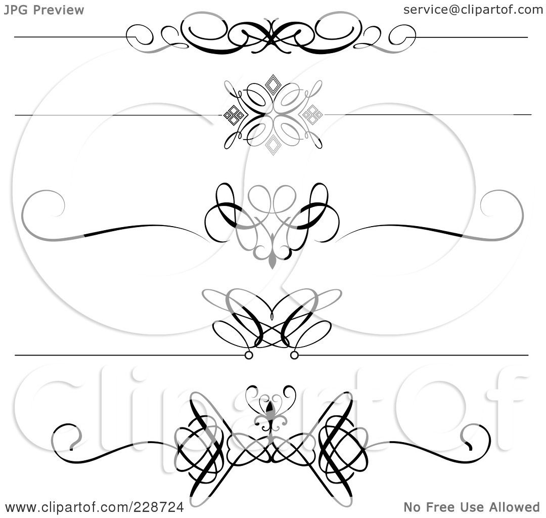 Royalty Free Rf Clipart Illustration Of A Digital Collage Of Decorative Black And White Page