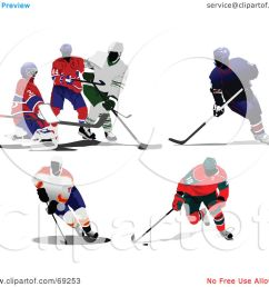 royalty free rf clipart illustration of a digital collage of hockey players by [ 1080 x 1024 Pixel ]