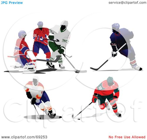 small resolution of royalty free rf clipart illustration of a digital collage of hockey players by