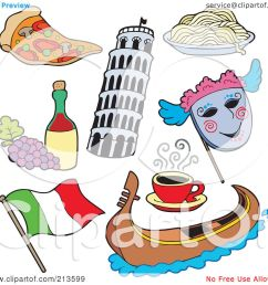 royalty free rf clipart illustration of a digital collage of italian items by [ 1080 x 1024 Pixel ]