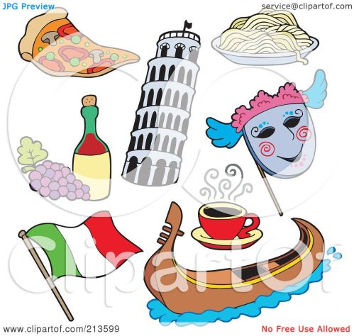 small resolution of royalty free rf clipart illustration of a digital collage of italian items by