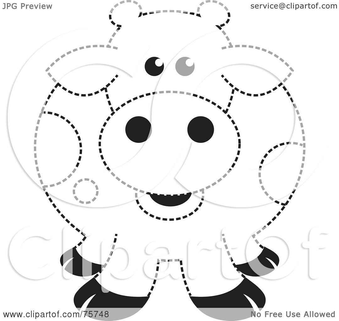 Royalty Free Rf Clipart Illustration Of A Fat Black And