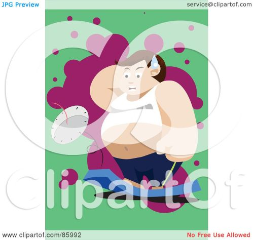 small resolution of royalty free rf clipart illustration of a fat man standing on and breaking