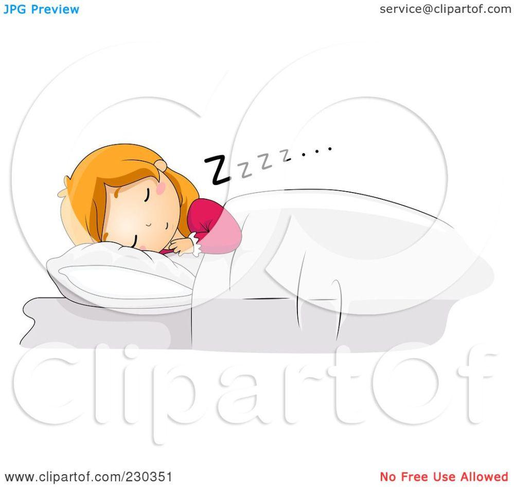 medium resolution of  free rf clipart illustration of a girl sleeping restfully in bed