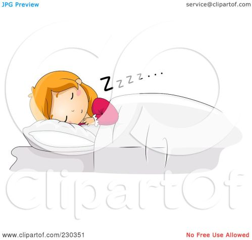 small resolution of  free rf clipart illustration of a girl sleeping restfully in bed