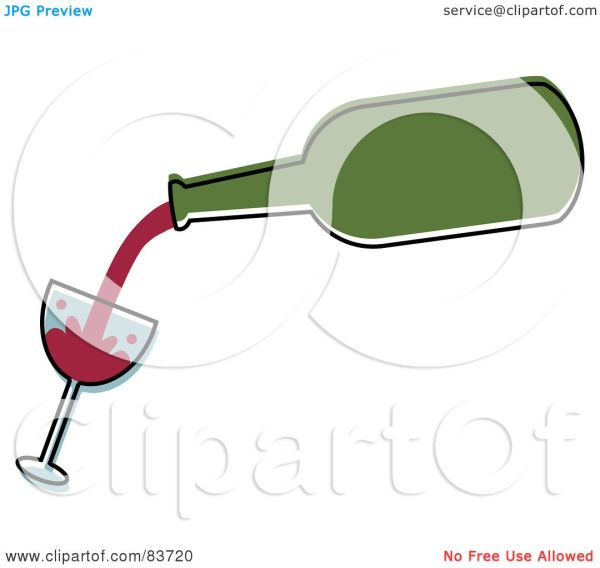 Royalty-free Rf Clipart Illustration Of Green Bottle