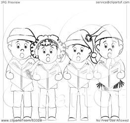 boys standing clipart christmas illustration royalty caroling rf pams