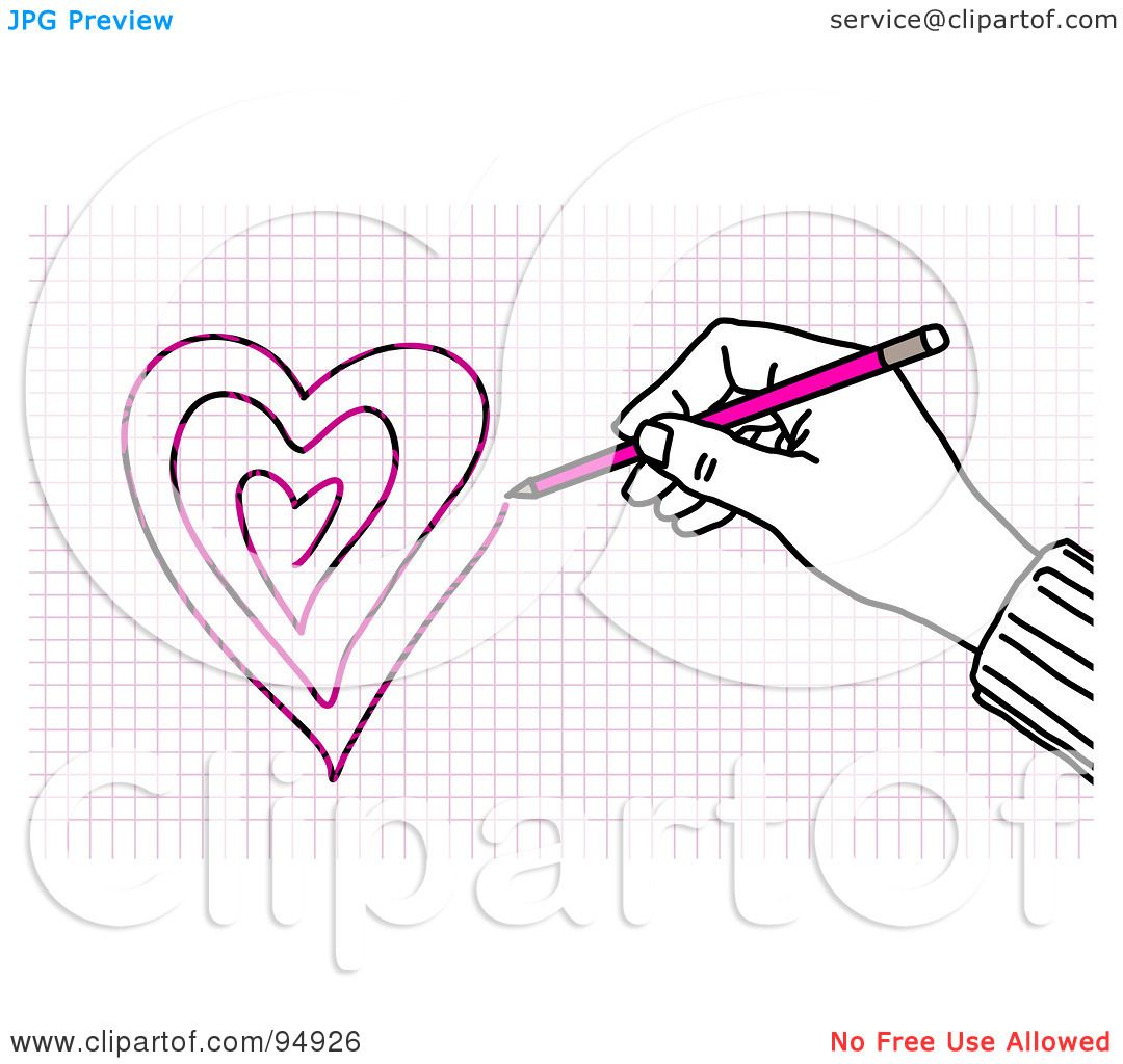 Royalty Free Rf Clipart Illustration Of A Hand Drawing