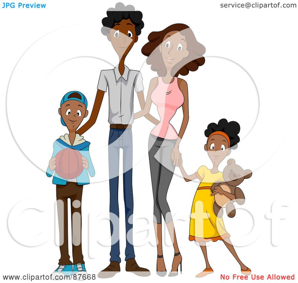 medium resolution of royalty free rf clipart illustration of a happy african american family of four