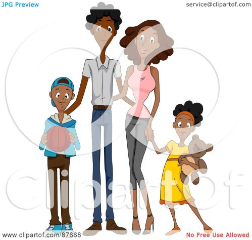small resolution of royalty free rf clipart illustration of a happy african american family of four