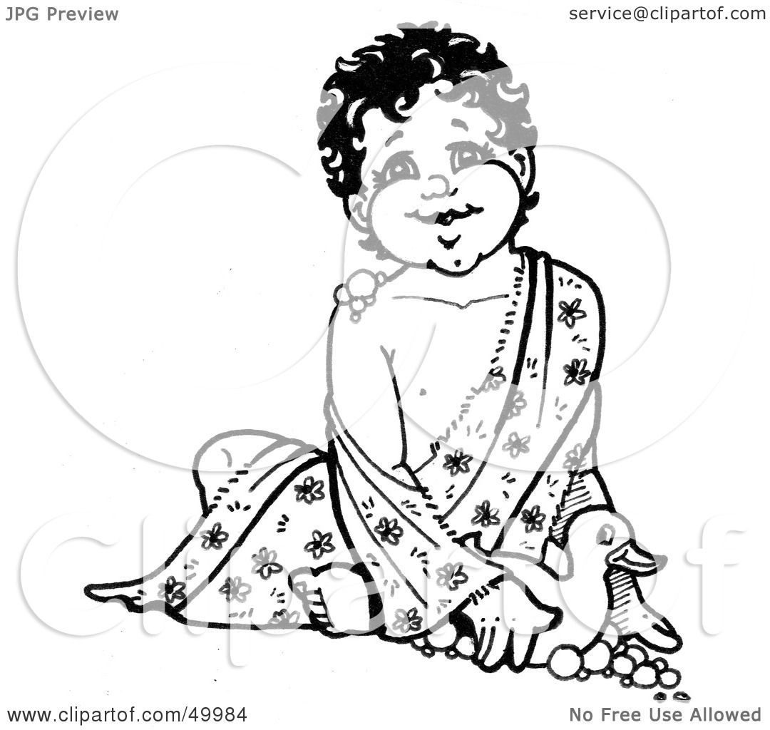 Royalty Free Rf Clipart Illustration Of A Happy Baby
