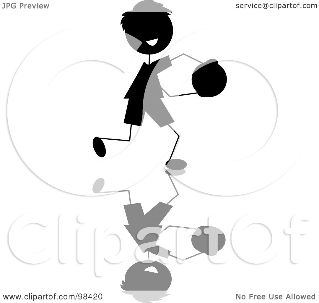 hight resolution of royalty free rf clipart illustration of a happy black silhouetted stick boy running with a ball by pams clipart