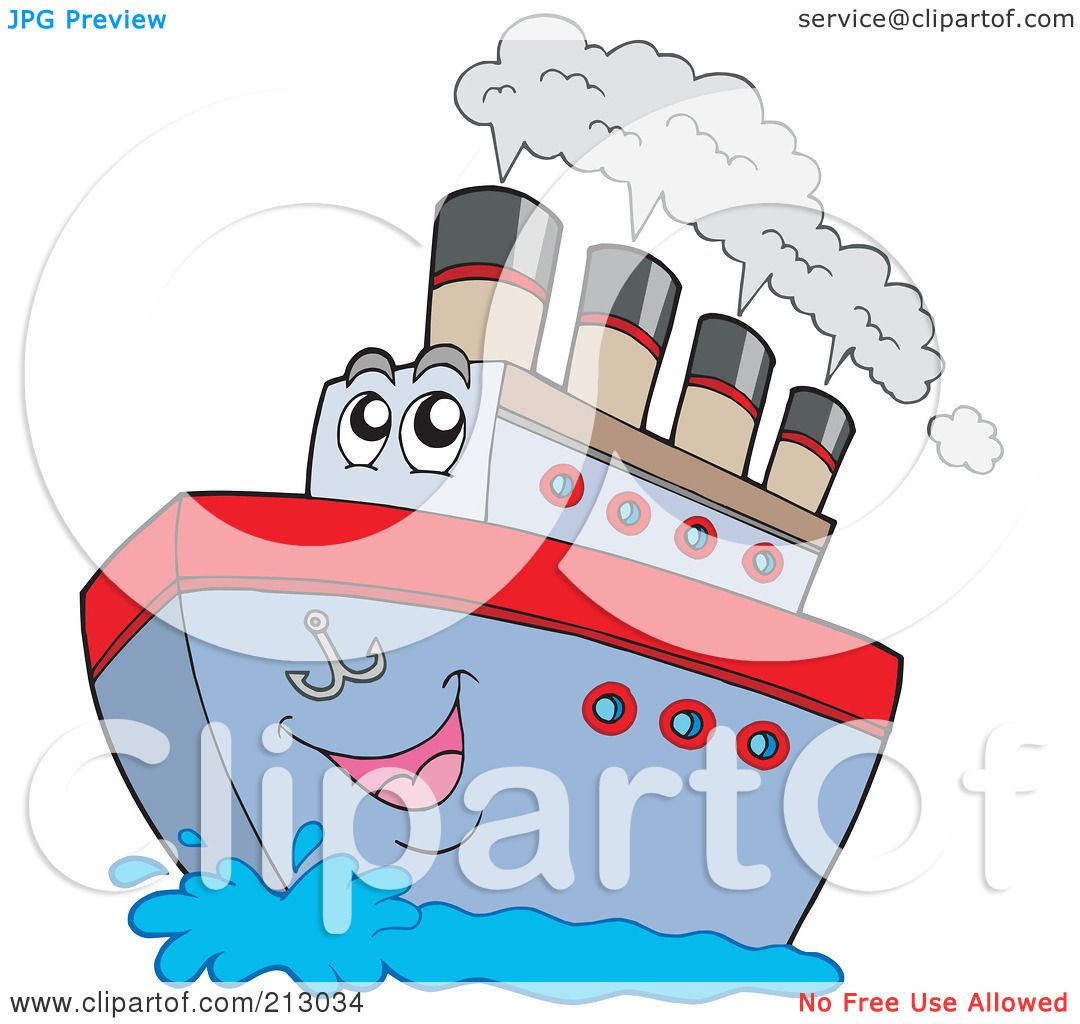 hight resolution of royalty free rf clipart illustration of a happy boat character with steam by