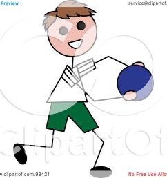 royalty free clipart illustration of a happy brunette stick boy running with a ball pams clipart [ 1080 x 1024 Pixel ]