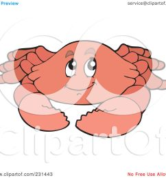 royalty free rf clipart illustration of a happy pink crab by visekart [ 1080 x 1024 Pixel ]